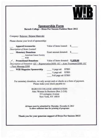 sponzorship Form 1